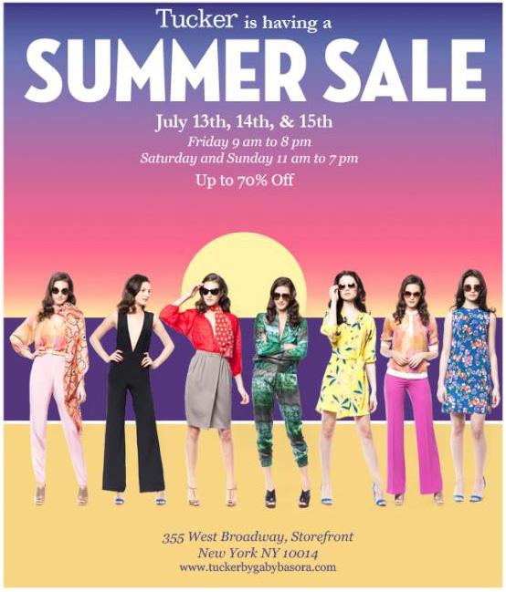 Tucker Blowout Summer Sale