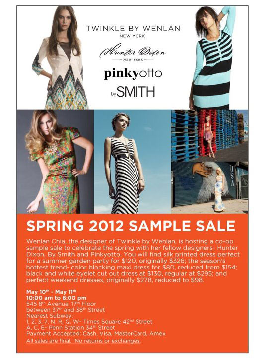 Twinkle by Wenlan, Hunter Dixon, By Smyth & Pinkyotto Sample Sale