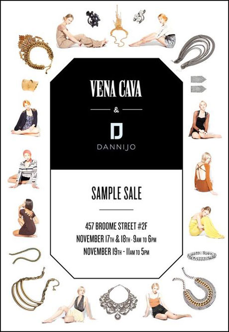 Vena Cava and Dannijo Sample Sale