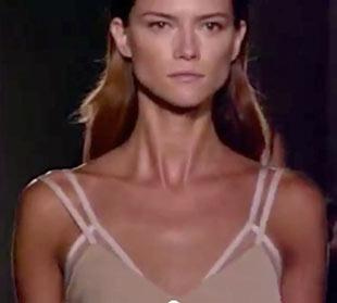 Victoria Beckham featured bra-style tops