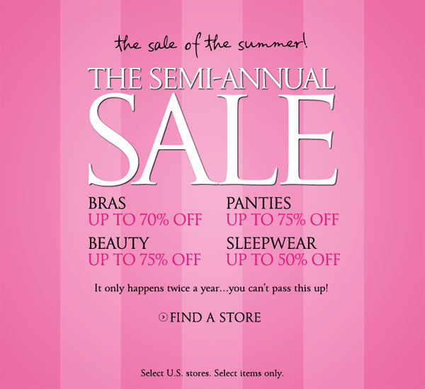 Victoria's Secret Semi-Annual Sale