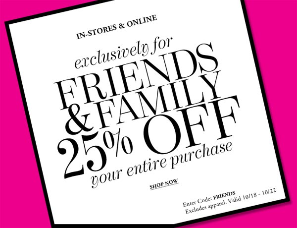 Vince Camuto Friends & Family Sale