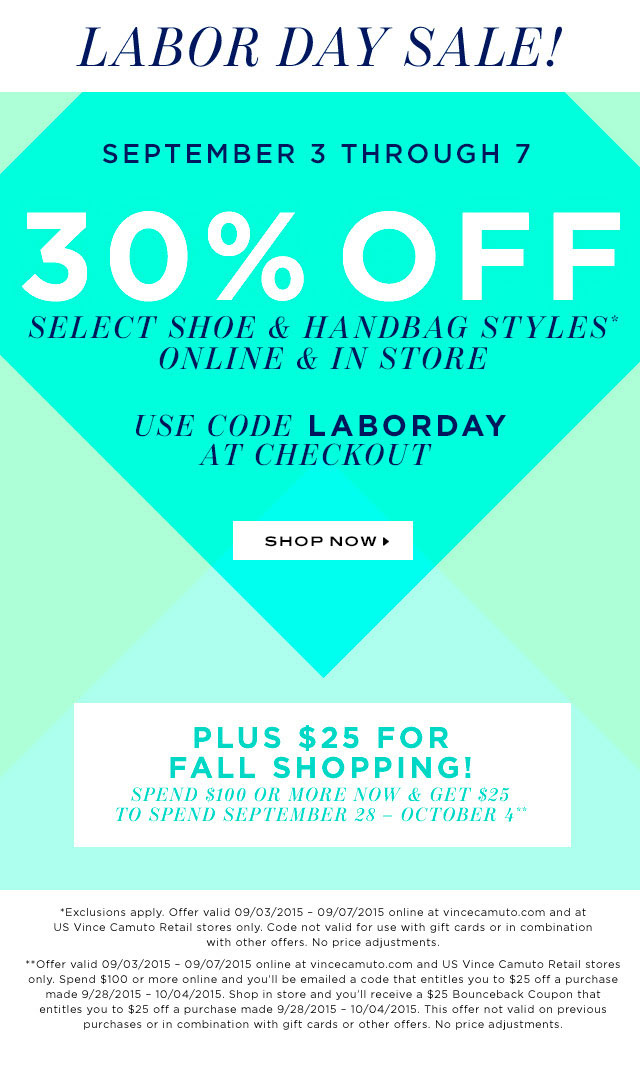 Vince Camuto Labor Day Sale