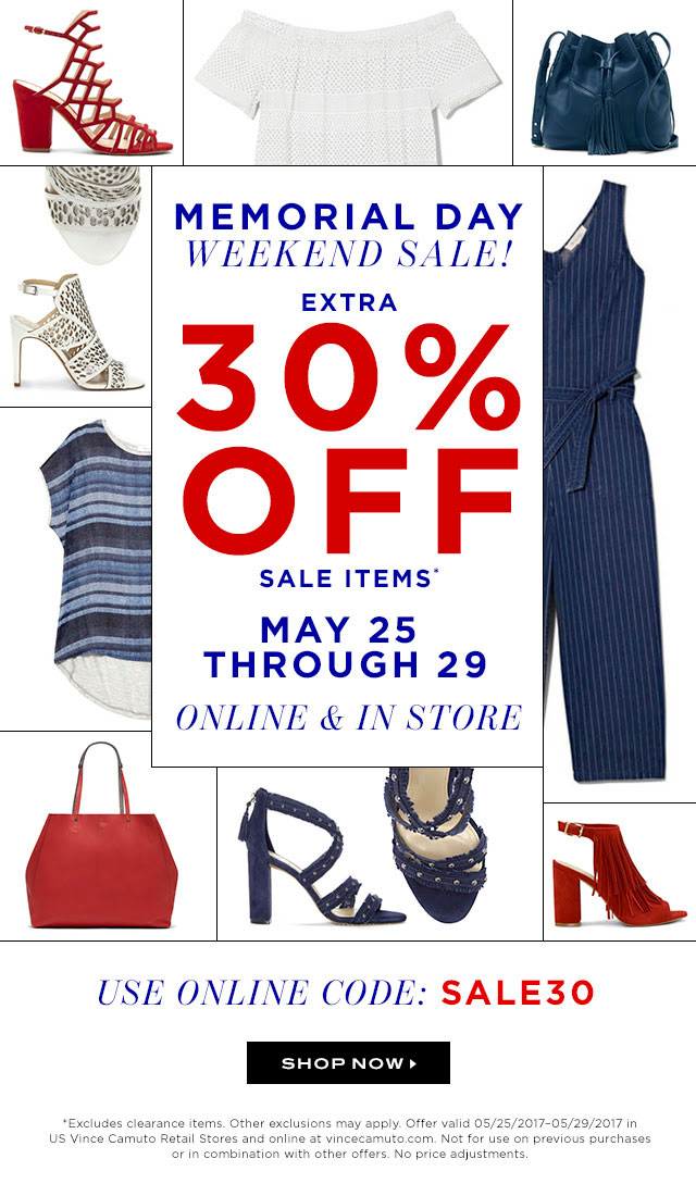 Vince Camuto Memorial Day Sale