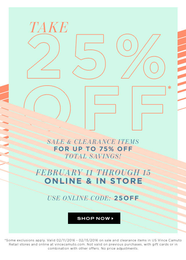 Vince Camuto President's Day Sale