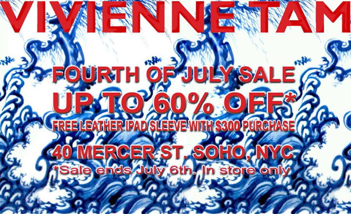 Vivienne Tam 4th of July Sale