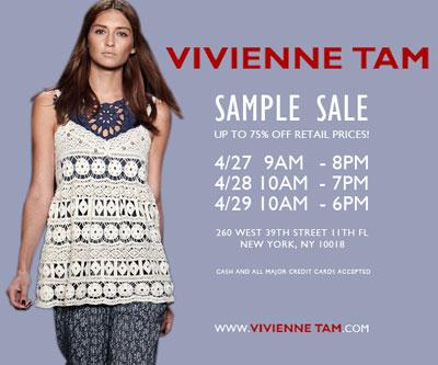 Vivienne Tam Sample Sale