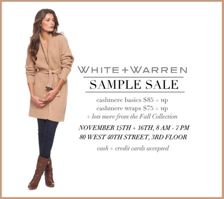 White + Warren Sample Sale