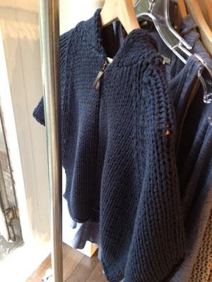White + Warren Cape Navy Short Sleeve Zip Sweater ($40)