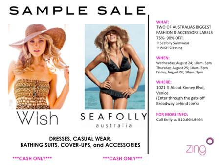 Wish & Seafolly Sample Sale