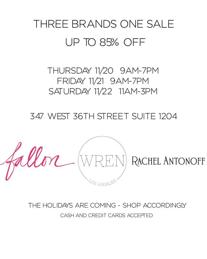 Wren, Fallon ad Rachel Antonoff Overstock & Sample Sale