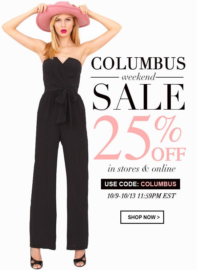 Yumi Kim Columbus Weekend Sale