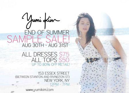 Yumi Kim End of Summer Sample Sale