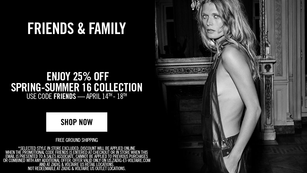 Zadig & Voltaire Friends & Family Sale