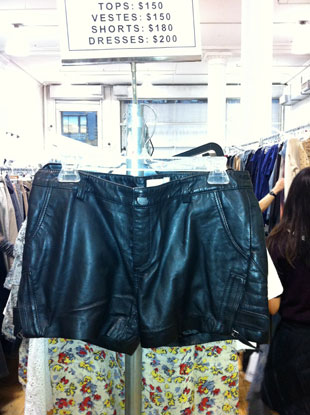 Leather shorts for $180!