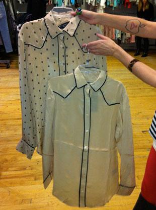 Silk Blouses originally priced at $450, now $130.