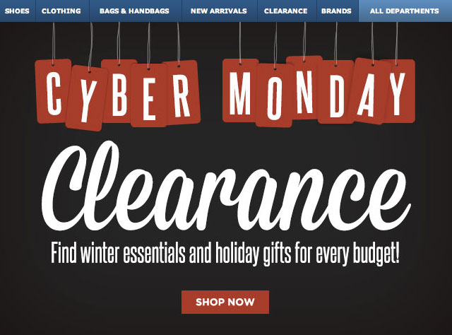 Cyber Monday Clearance At Zappos