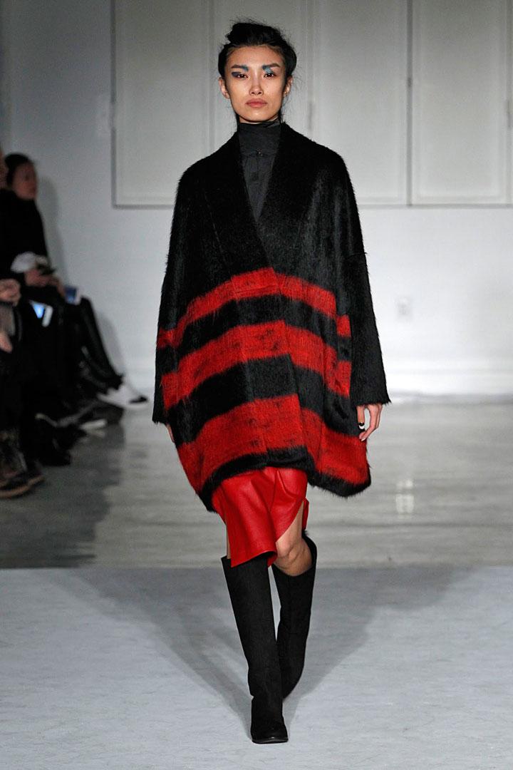 Zero + Maria Cornejo Lee Coat in Striped Suri Alpaca: $750 (orig. $2,495)