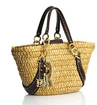 Juicy Couture Straw fashion tote bag
