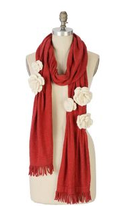 anthropologie scarf roses
