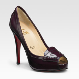 louboutin patent loafer pumps
