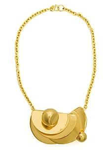 alexis bittar geometric gold statement necklace