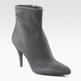 prada suede ankle boots in gray