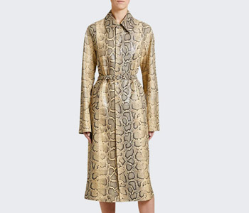 Bottega Veneta Python Print Leather Coat $7,950