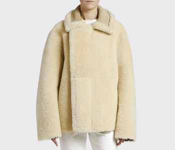 Bottega Veneta Reversible Shearling Zip-Front Jacket $6,700