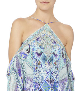 Camilla The Blue Market Cold Shoulder Romper