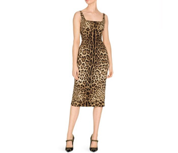 Dolce & Gabbana Leopard-Print Sleeveless Dress