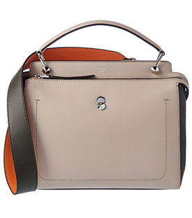 FENDI Dotcom Leather Satchel