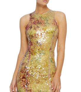 Galvan Miraflores High Neck Dress