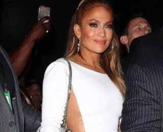 Insanely Sexy Hamel White Dress on Jennifer Lopez