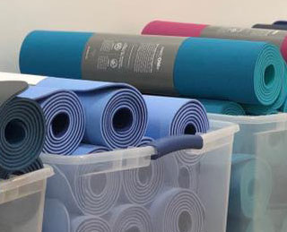 Pics from Inside the Manduka Sample Sale