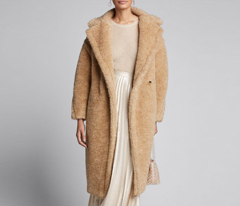 Maxmara Park Teddy Fleece Oversized Coat $4,150