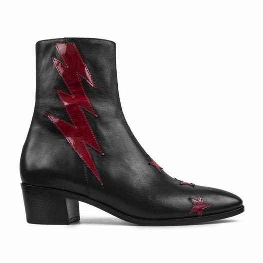 Modern Vice Black Red Bolt Boot