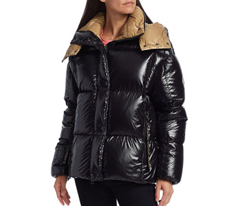 Moncler Parana Lacquered Puffer Jacket $1,675