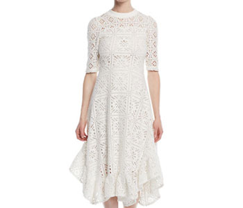 See by Chloe Ruffle Lace Dress