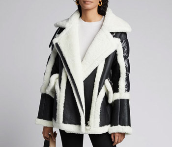 Nicole Benisti Montaigne Shearling Puffer-Back Coat $2,900