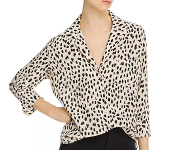 Rebel Cheetah Print Silk Shirt
