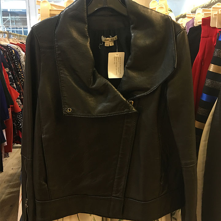 Helmut Lang leather jacket for $303 (retails for $1,200)
