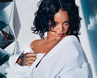 Rihanna wore jewels by DVANI, Hearts on Fire, Le Vian, & Pasquale Bruni for her Rihanna X Manolo shoot