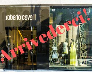 Roberto Cavalli Closes US Stores