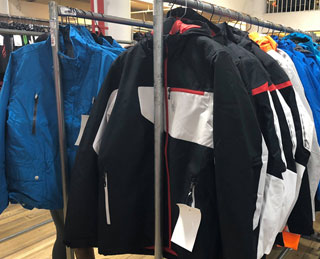 Pics from Inside the Spyder Warehouse Sale