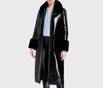 Stand Kristen Long Coat w/ Faux Fur $445