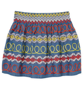 Stella McCartney Embroidered Cotton Skirt