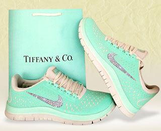 Are These Tiffany Inspired Nike Sneakers With Swarovski Crystals Too Much?