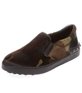 Valentino Camo Slip-On Sneaker