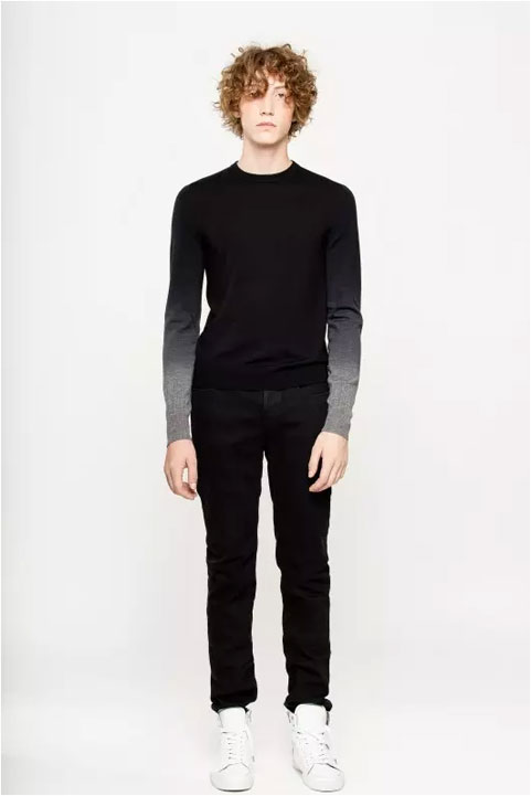 Zadig and Voltaire Jeremy Dip Dye Long Sleeve Sweater
